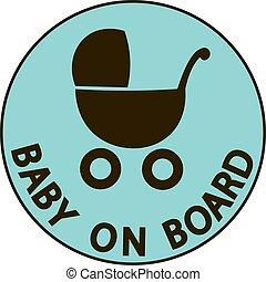 signe, bébé, vecteur, planche, illustration