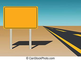 signe blanc, route