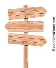 signe, blanc, sentier, coupure, bois, isolé, direction, vide, included