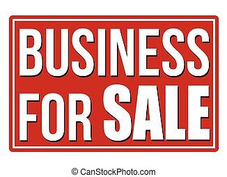 signe, business, vente