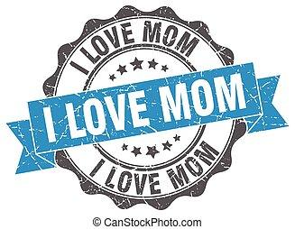 signe., cachet, amour, maman, stamp.