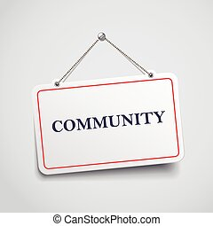 signe, communauté, pendre