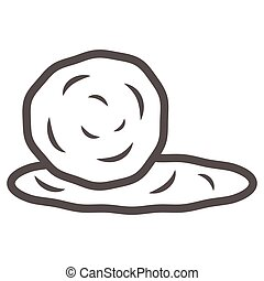 signe, contour, fond, concept, toile, mondiale, jour, graphics., style, ligne, design., boule neige, icône, mobile, concept, vecteur, icône, blanc, boule de neige
