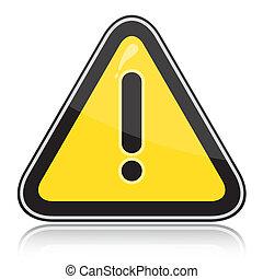 signe, dangers, autre, triangulaire, avertissement, jaune