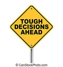 signe, devant, décisions, trafic, dur