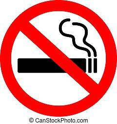 signe, fumer, non