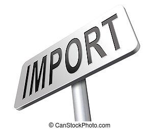 signe, importation