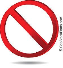 signe, interdit, trafic, -