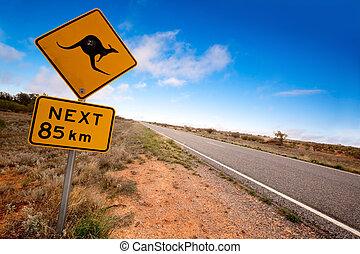 signe kangourou, intérieur