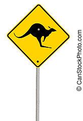 signe kangourou, (with, path)