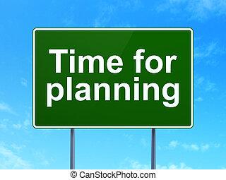 signe, planification, concept:, fond, temps, route