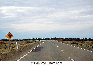 signe route kangourou