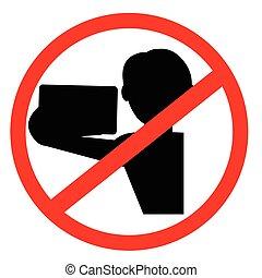 signe, selfi, non