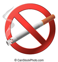 signe, smoking., non