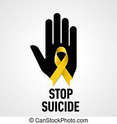 signe, suicide, arrêt