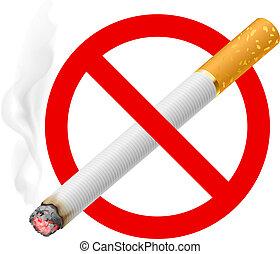 signe tabagisme, non