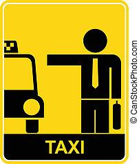signe taxi, symbole, -