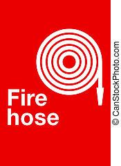signe, tuyau pompe incendie