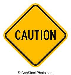 signe, vecteur, illustration, symbole, avertissement, prudence