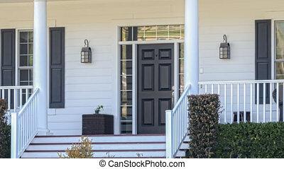 signe vendu, maison, vente, panoramique