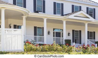 signe vendu, vrai, vente, panoramique, maison, propriété