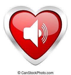 signe, volume, valentin, icône, musique