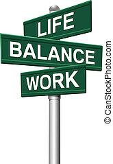 signes, équilibre, vie, travail, choix