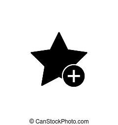 signet, favori, ajouter, étoile, icône