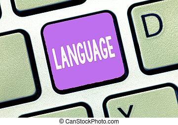 signification, concept, huanalysis, parlé, texte, language., méthode, écrit, non plus, mots, communication, écriture, consister