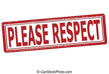 s'il vous plaît, respect