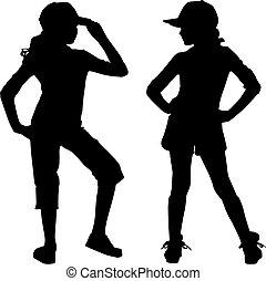 silhouette, adolescent