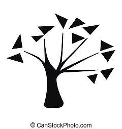 silhouette, arbre