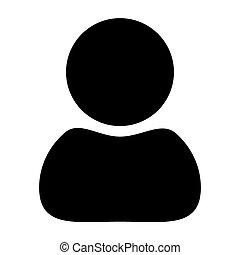 silhouette, arrière-plan., vecteur, noir, blanc, icône, homme