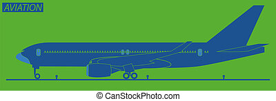 silhouette, avion