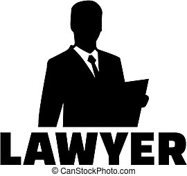 silhouette, avocat