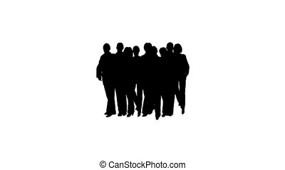 silhouette, business, disband, gens