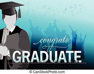 silhouette, célébration, remise de diplomes