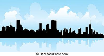 silhouette, chicago