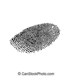 silhouette, contour, empreinte doigt, perspective