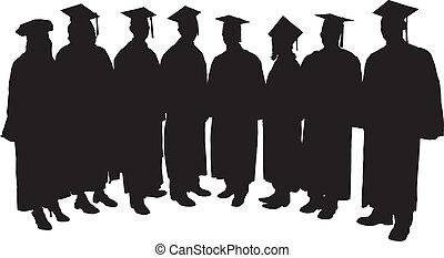 silhouette, diplômés