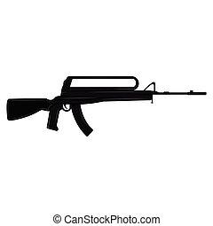silhouette, fusil