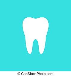 silhouette, illustration, dent, vecteur, blanc, icône