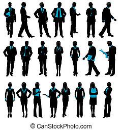 silhouette, professionnels