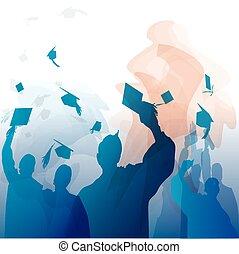 silhouette, remise de diplomes