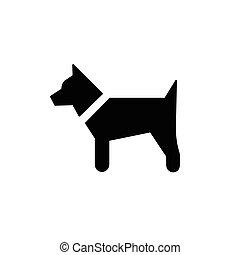 silhouette, simple, chien, illustration, vecteur, noir
