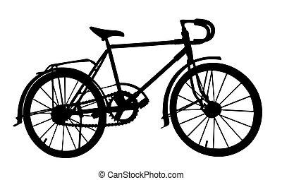 silhouette, sports, bike.
