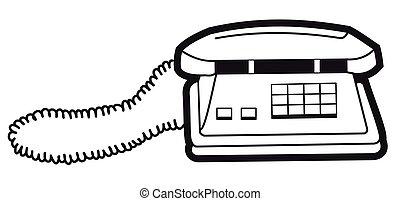 silhouette, téléphone
