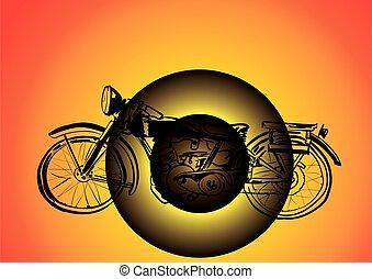 silhouette, vélo