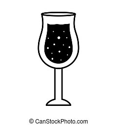 silhouette, vecteur, ouragan, conception, icône, cocktail, style, tasse, verre