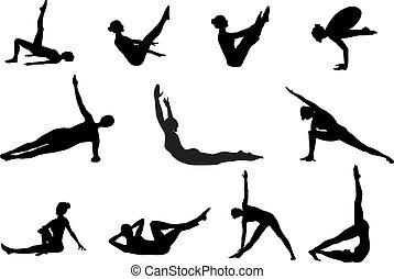 silhouettes, élaboration, pilates